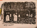 The night cemetery in my dream