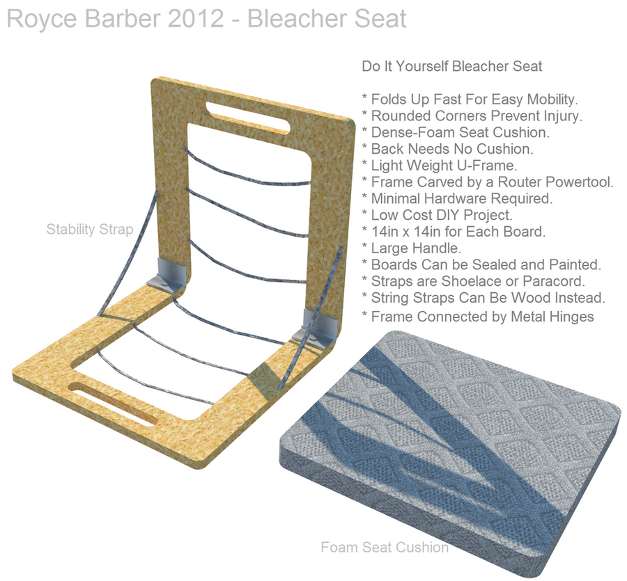 DIY Bleacher Stadium Seat 2 By Royce Barber On DeviantART