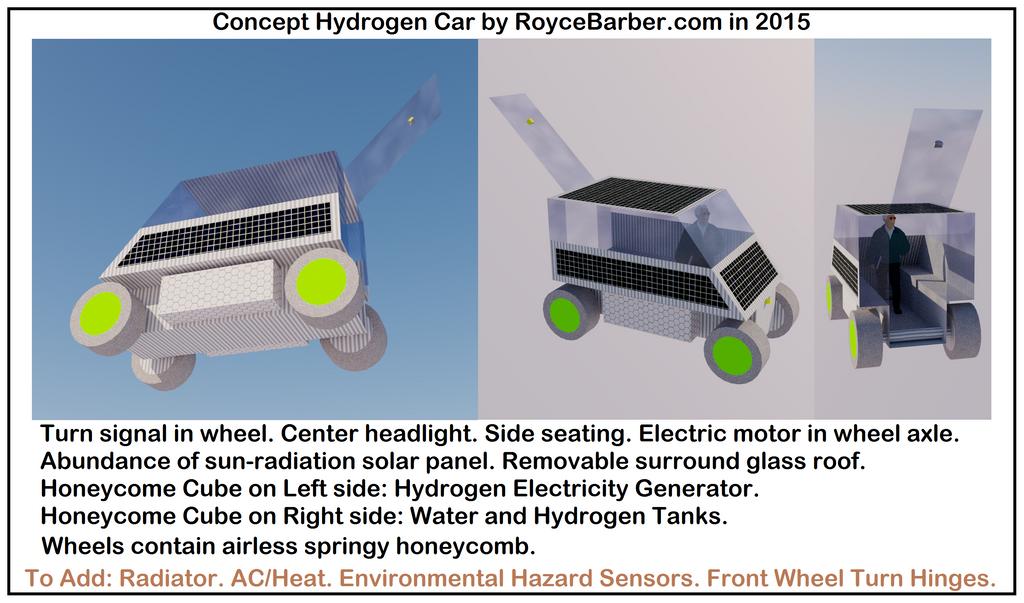 my hydrogen car design. 2015. by Royce-Barber