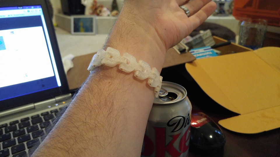 3D Printed Bracelet by Royce-Barber