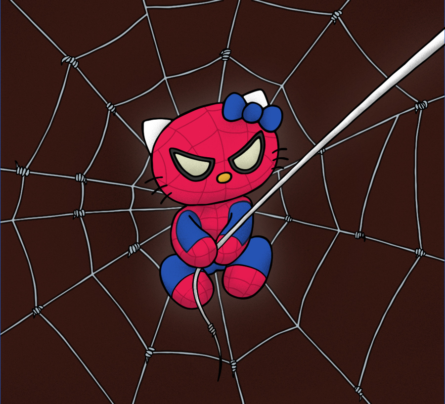 Spider-Kitty  by DidiPig