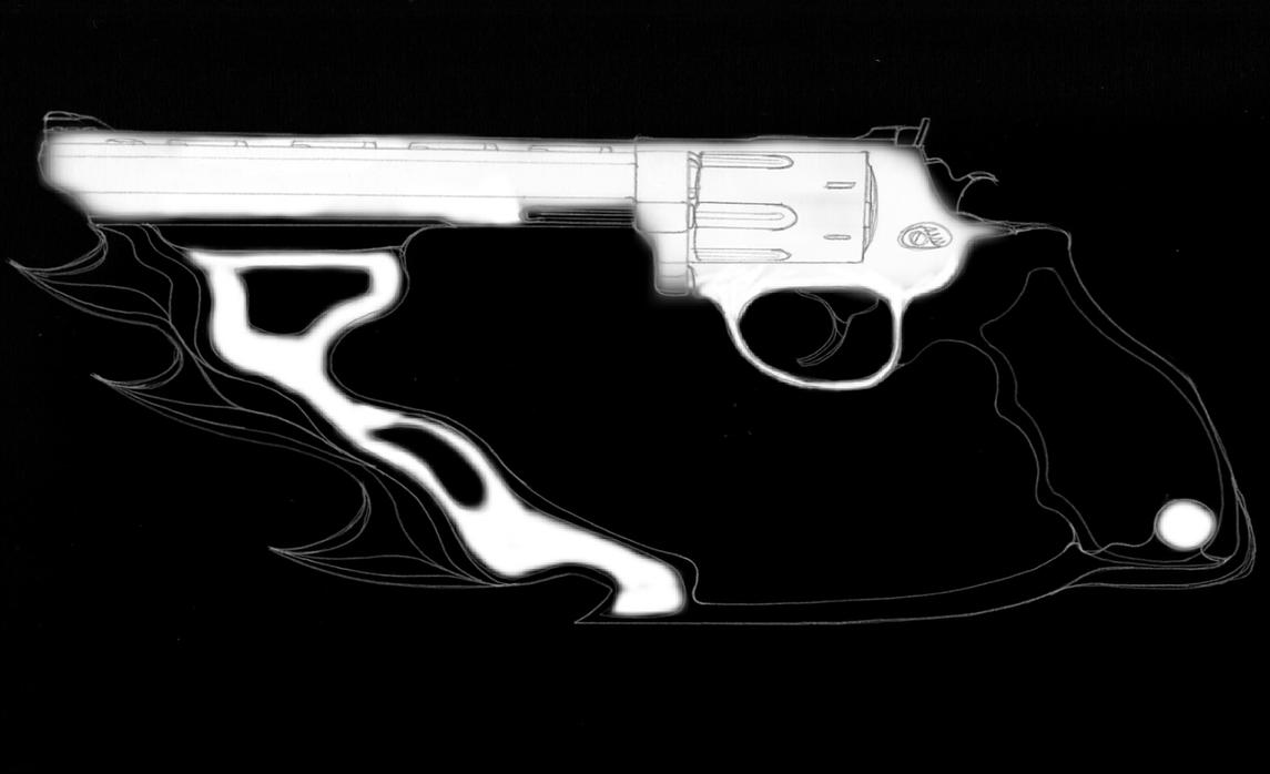 .44 Magnum w/3 Blade Attachment by Cosmic-Drifter