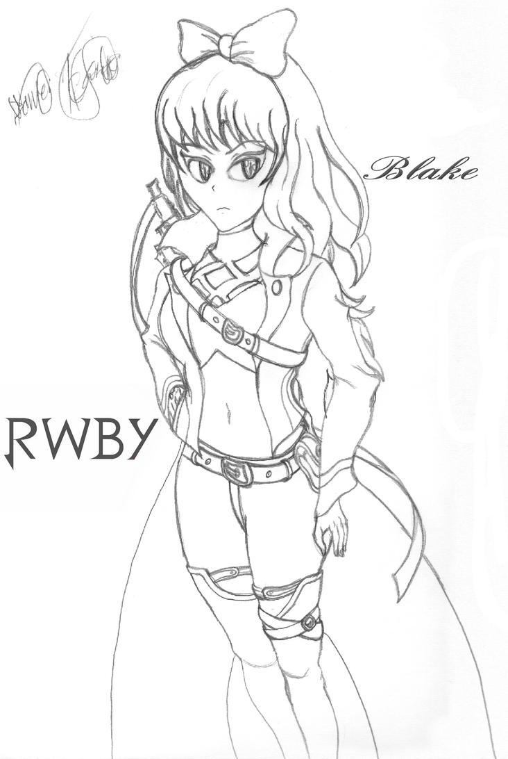 RWBY Blake Volume 4 (Linear Sketch) by Cosmic-Drifter