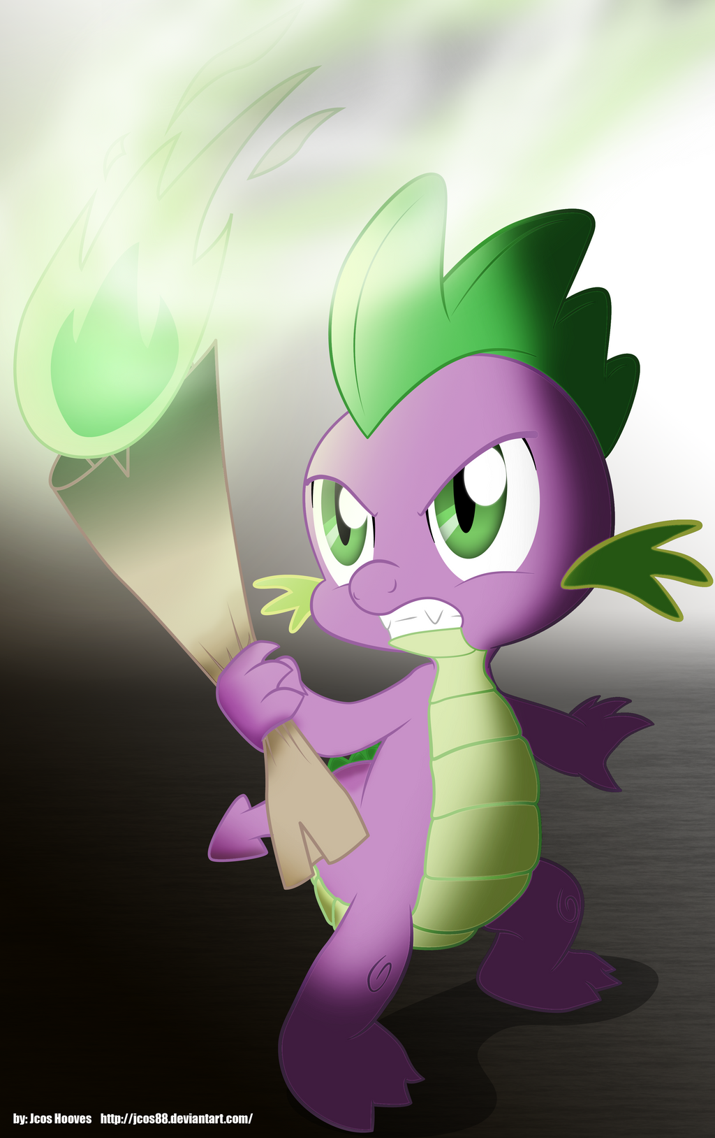 Spike Scroll Torch by JcosNeverExisted