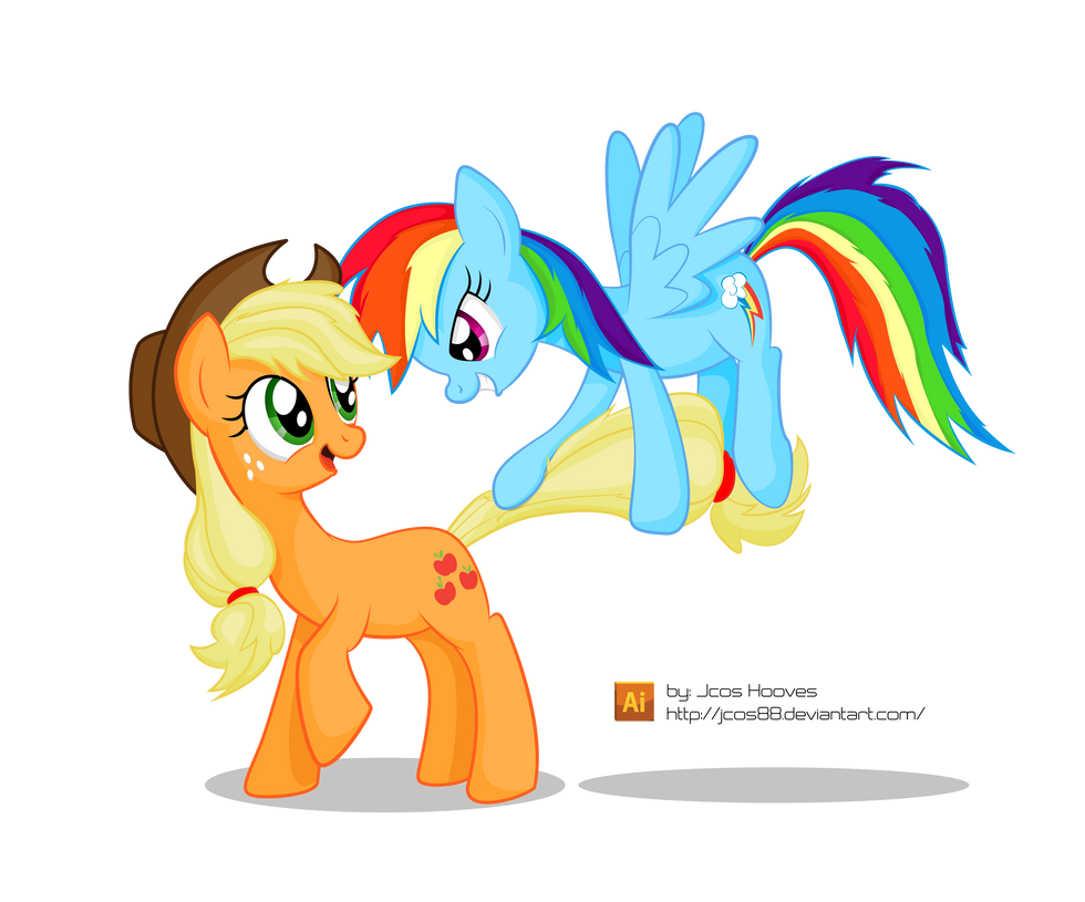 Appledash Playing (?) by JcosNeverExisted