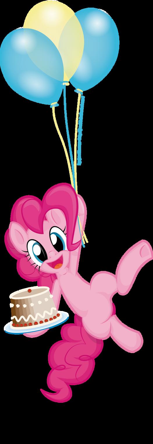 Pinkie's Flying Dessert by JcosHooves