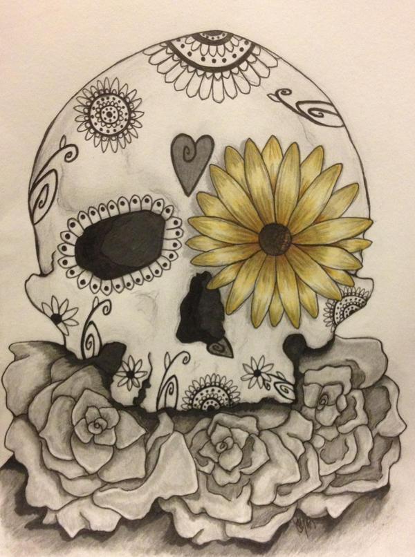 Sugar skull sketch by gigibecker
