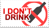 Don't Drink stamp