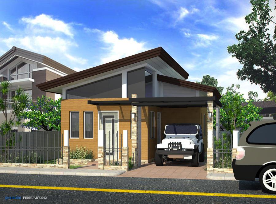 Storey building 3d plans modern house for Modern residential building design