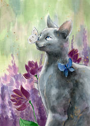 [Watercolor Painting] Azure du Trefle