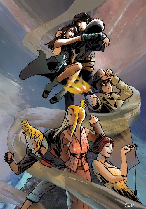 Final Fantasy VIII characters by Emtrexx