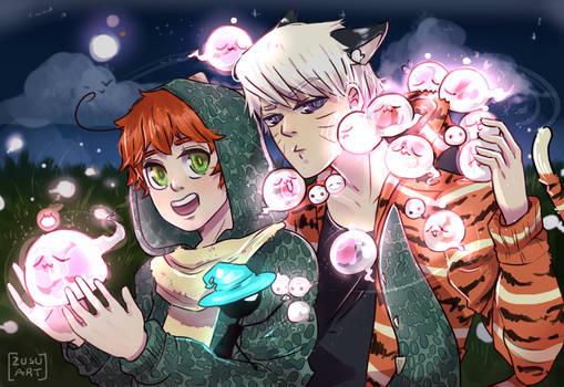 Noche de fantasia..!!  -Dino y Tigre-