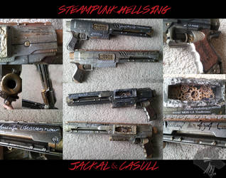 Steampunk Alucard Cosplay ~ Jackal + Casull by Akiwuffle