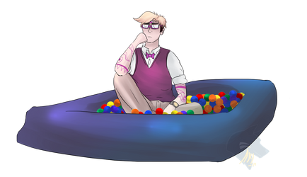 I am in the ballpit and I am not upset. by Akiwuffle