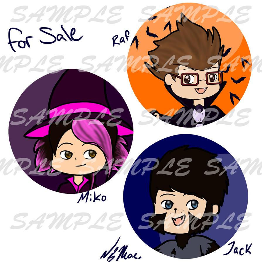 TFP Halloween 2012 Buttons by TMNT-Raph-fan