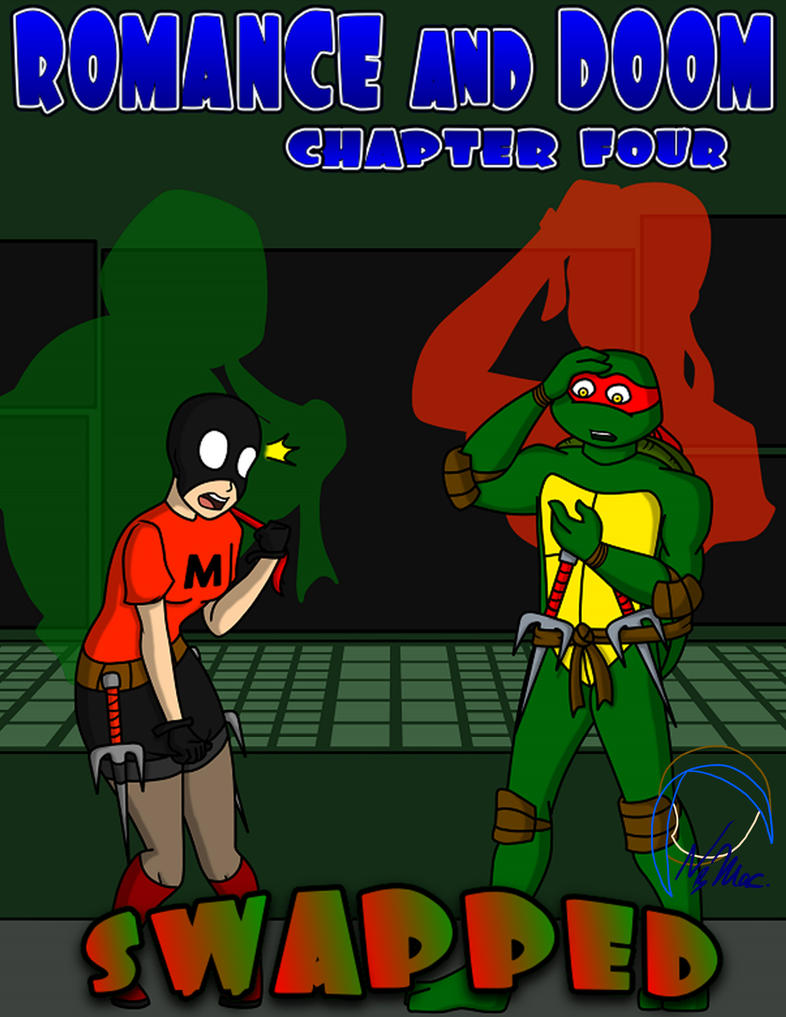 Romance and Doom Chap. 4 Cover by TMNT-Raph-fan