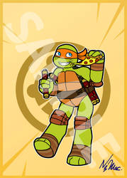Sale: TMNT 2012 Art Cards - Mikey by TMNT-Raph-fan