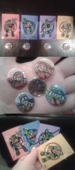 Sale: TMNT 2012 Cards/Buttons preview