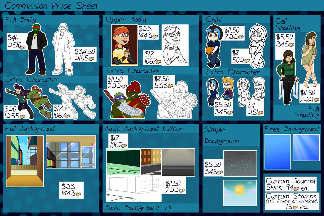 Commission Price Sheet 2016 (OPEN)