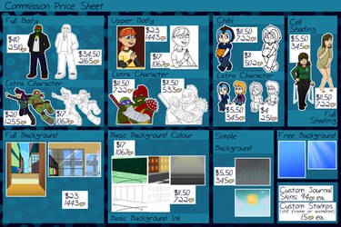 Commission Price Sheet 2016 (OPEN) by TMNT-Raph-fan