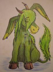 ...sitting green pony... by Drerika