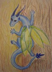 crawling lil dragon by Drerika