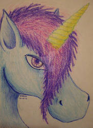the unicorn's look by Drerika