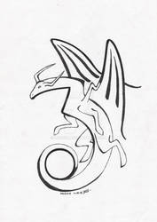 its a dragon by Drerika