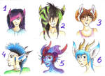 Adoptables auctions 3 left