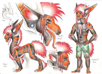 Ref sheet: Connor by Drerika