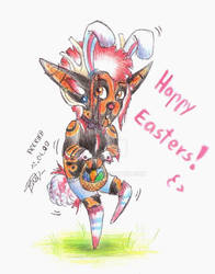 Happy Easters: Conie lil bunny :3 by Drerika