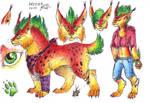 Ref sheet: lynx Luka