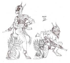Armed lady by Drerika