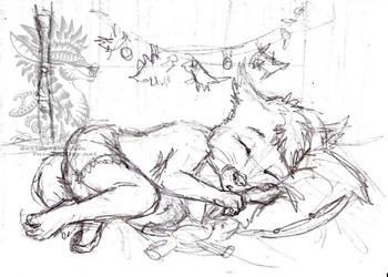 Sleeping cutie by Drerika