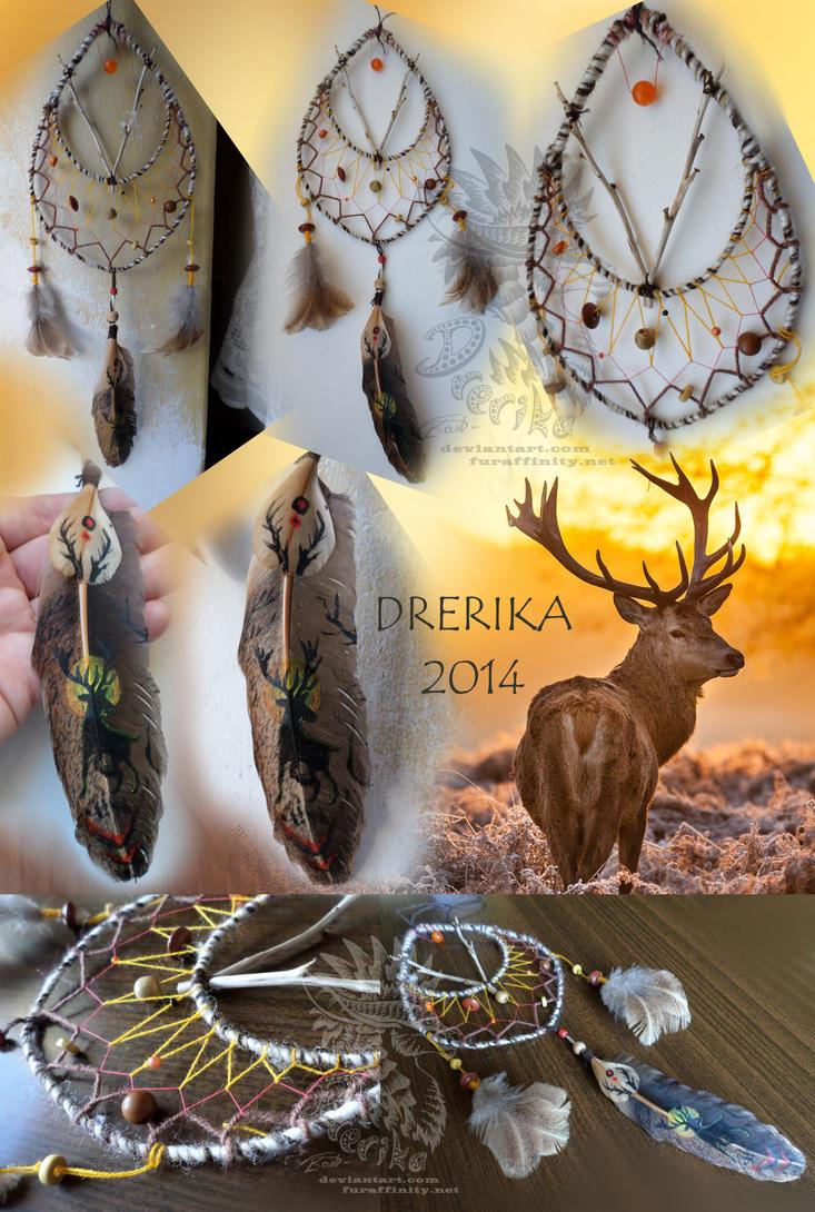 CM: Deer dreamcatcher by Drerika