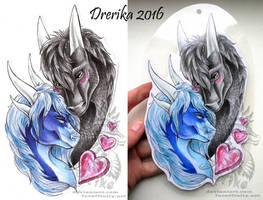 AT: Samantha and Dreit badge by Drerika