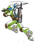 Leonardo is ichiban turtle