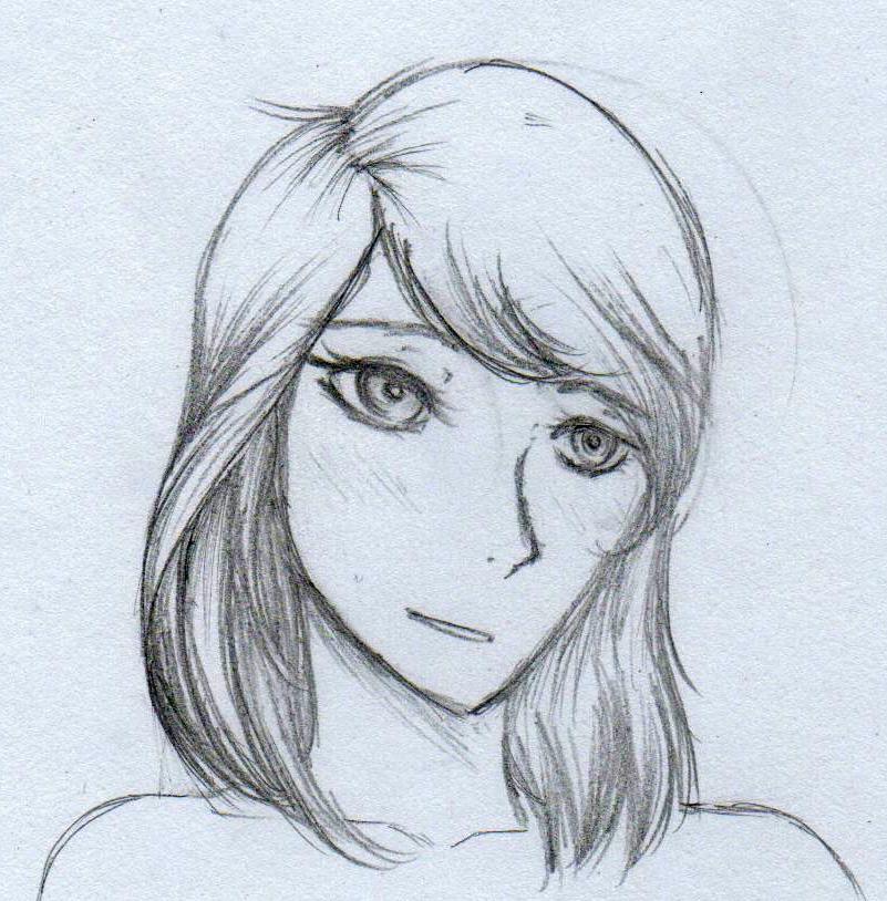 Girl's Head by ZacharyWolf