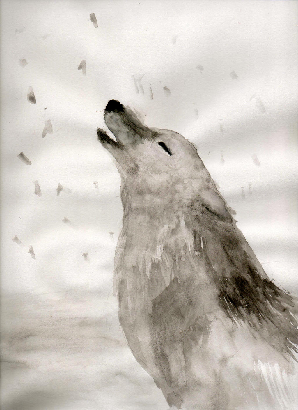 Wolf Howl by ZacharyWolf