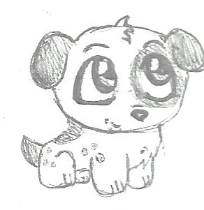 Cute Chibi Dog