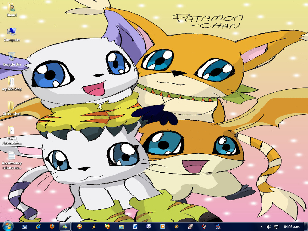 Gatomon And Patamon New Desktop Pat...
