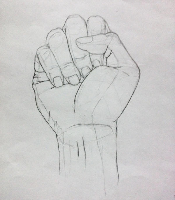 Hand drawings 1 fist by mestify