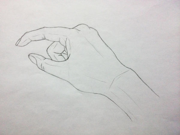 Hand drawings 2 grabbing something small by mestify on for Small art drawings