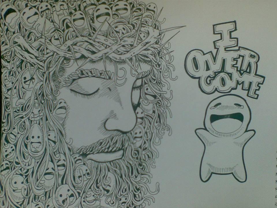doodle art through JESUS alone by kieram on deviantART