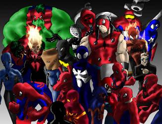 Legion of Spider-Men by ShadetheMystic