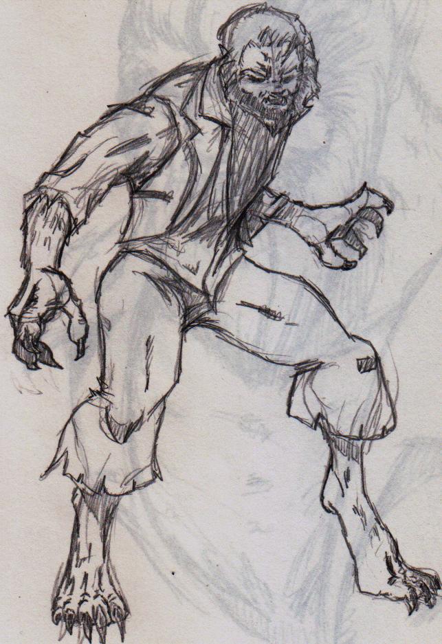 Sketch - Wolfman by ShadetheMystic
