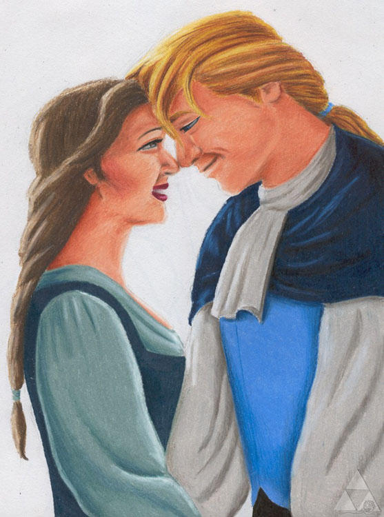 Belle and her Prince by brandiyorkart