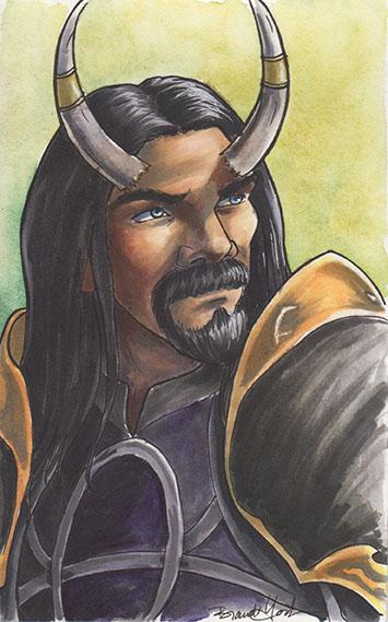 Filliam the Warlock by brandiyorkart