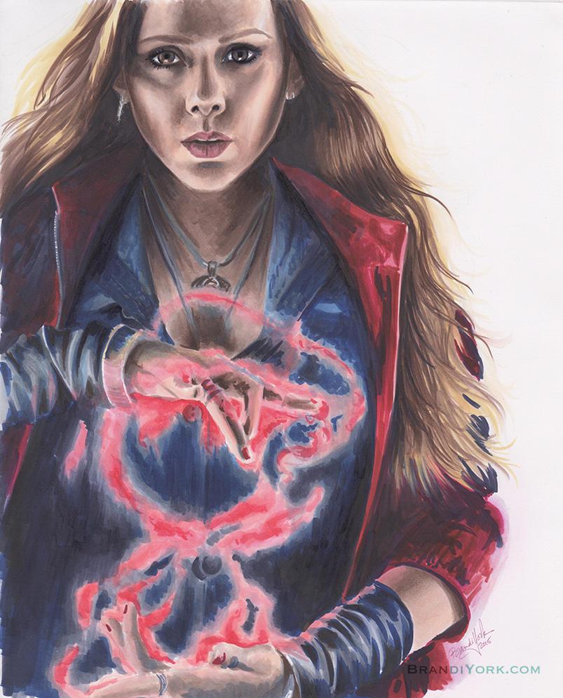 Scarlet Witch by brandiyorkart
