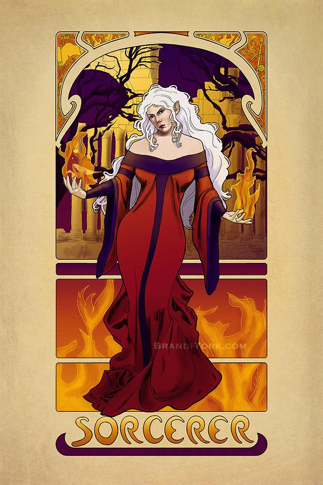L'Ensorcelleur - The Sorcerer by brandiyorkart
